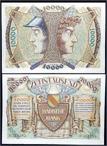 Billet, Allemagne, 10000 Mark, Ecusson, 1923, 1923-04-01, NEUF ***** RARE