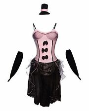 Wild West Saloon Burlesque Fancy Dress Costume Pink, Red or Purple UK Sizes 8-14