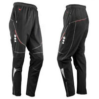 New Men's Winter Windproof Cycling Bicycle Bike Fleece Thermal Long Pants XL-3XL