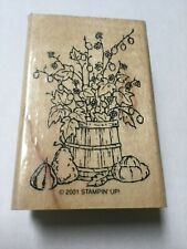 Fall Harvest Rubber Stamp by Stampin Up Leaves Gourds