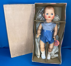 "Vintage Ideal Baby Boy? Coos Doll 18"" Mint In Original Outfit, Box Wrist Tag"