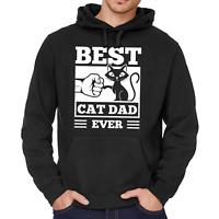 BEST CAT DAD EVER Fistbump Kitty Katze Sprüche Spaß Fun Kapuzenpullover Hoodie