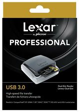 Lexar Professional USB 3.0 Dual-Slot SDHC SDXC CF FAST Card Reader