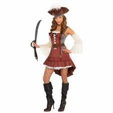 Ladies Castaway Pirate Lady Fancy Dress Costume  Sexy Wench  14-16