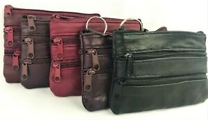 Stylish Women 4Zipper Purse Ladies Clutch Coin Wallet Phone Card Holder Handbag