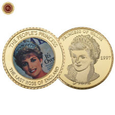 WR Princess Diana Commemorative Gold Coin England Royal Rose Thank You Gifts