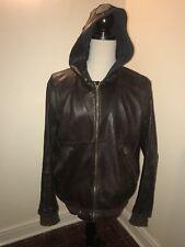 Mens Armani leather jacket vintage Retro