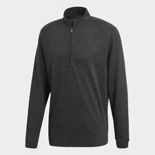 adidas Wool Quarter Zips Black Heather Medium