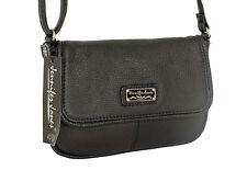 Kleine elegante LEDER Damenhandtasche Handtasche, Schultertasche, Schwarz 6223