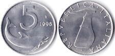 REPUBBLICA 5 LIRE 1998 FDC