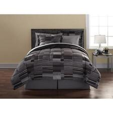 Mainstays Digital Stripe Geometric Design Bed in a Bag Complete Bedding Set Twin