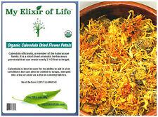 "Organic Marigold ""Calendula Officinalis"" Dried Flower Petals Herb 2 oz"