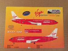 Boeing 737-300/400, Virgin Express Decal, 1/144, Skyline Decals