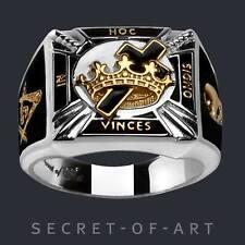 Knights Templar Siegelring Tempelritter Ring 925 Silber Kreuzritter Freimaurer