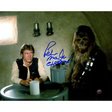 Star Wars Peter Mayhew Chewbacca Signed 'w/ Han Solo in Cantina' 8x10 Steiner