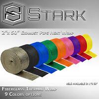 Motorcycle Header Exhaust Heat Wrap Fiberglass Manifold Roll w/ Steel Ties