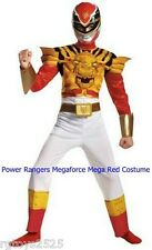 Power Rangers Size 7 8 Medium Megaforce Red Muscle Child Costume Mega Mode New