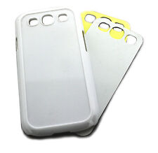 10 HARD GOOD BLANK SAMSUNG GALAXY S3 CASE / COVER WHITE HEAT PRESS SUBLIMATION