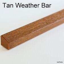 TAN CHÊNE Météo Pluie Déflecteur goutte à goutte Bar PVC porte fenêtre en Bois Garde Weatherbar F