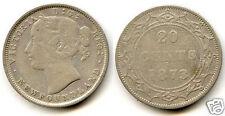 Canada Newfoundland 20 Cents Silver 1873 45,797 Copies
