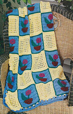 How Does Your Garden Grow? Afghan/CROCHET PATTERN INSTRUCTIONS ONLY
