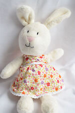MOTHERCARE BUNNY FLORAL DRESS BABY SOFT TOY TEDDY COMFORTER EXCELLENT NEXT DAY P
