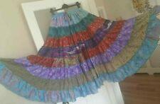 Hermoso color en niveles de múltiples falda de danza del vientre * Gypsy Folk Banjara tribalfree Talla