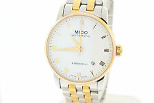 Men's Mido Baroncelli Jubilee Automatic M86009261 White Dial Two Tone SS Watch