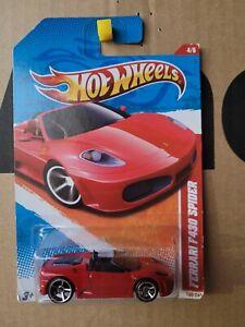 Hot Wheels 2011  FERRARI 430 SPIDER [RED] VHTF NEAR MINT CARD GOOD