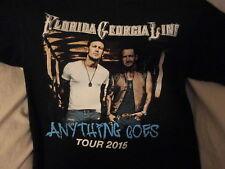Florida Georgia Line Anything Goes Tour 2015 Concert Black T Shirt Size Medium