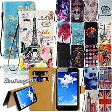 Flip Folio Stand Card Wallet Leather Cover Case For Various Unnecto Smartphones
