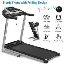 Electric Motorized Foldable Treadmill Walk Running Machine W/ Manual Incline MP3