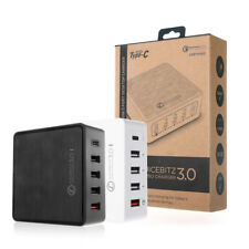 JuicEBitz® 5 Port FAST Multi USB Charger Hub UK Plug Adapter for iPhone iPad Pro