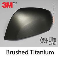 GENUINE 3M 1080-BR230 Brushed Metal Titanium Textured Wrap Film 500mmx1520mm