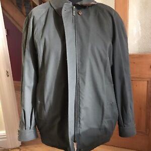 Vintage Burberry Bomber Mid Green Jacket Harrington Nova Check Reg 16 Ladies Uni