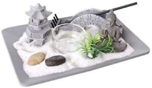 Buddha Zen Garden Tealight Holder Relax Spiritual Decor Small Grey Ornament Gift
