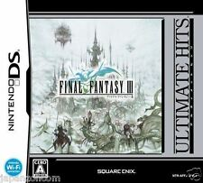 Used DS  Final Fantasy III 3 (Ultimate Hits) NINTENDO JAPANESE IMPORT