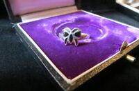 Hübscher Ring 925 Silber Schmetterling Email Emaille