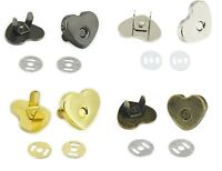 14 - 18 mm Heart Shape Magnetic Snaps Purse Clasp Closures Metal Bag Craft Sew