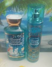 bath and body works frosted coconut snowball shower gel and fine fragrance mist