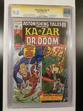 ASTONISHING TALES #4 CGC S.S 9.0 SIGNED GERRY CONWAY!! WHITE PAGES KEY COMIC!!
