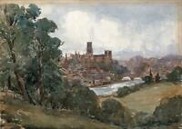 DURHAM CASTLE & CATHEDRAL Watercolour Painting CHARLES ATKINSON SMITH c1920
