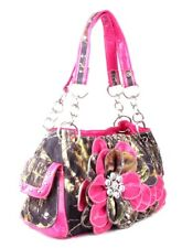 CONCEALED WEAPON GUN PISTOL RHINESTONE FLOWER CAMO PURSE PINK BLUE GREEN PURPLE