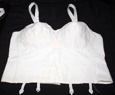 DO ALL QT 100% COTTON LONGLINE  BULLET BRA 36B STYLE 470 WHITE NEW DISCONTINUED