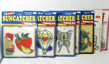 Lot of 7 Vintage SunCatchers Baking Kit with crystals Darice 1980s NOS