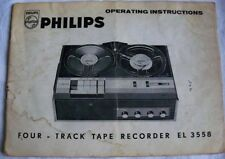 Instructions reel to reel tape recorder PHILIPS four track EL 3558 CD/email