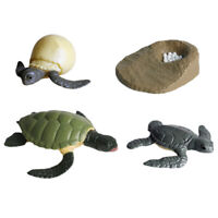 4pcs Animal Growth Cycle Realistic Sea Turtle Figurines Kids Party Toys Gifts
