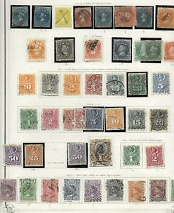 Chile stamps 1853 Collection of 46 CLASSIC stamps HIGH VALUE!