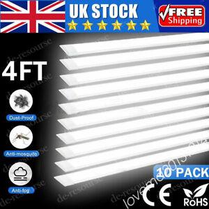 ⭐⭐10x 4FT Bright LED Batten Tube Light Office Home Garage Ceiling Panel Lamp MK