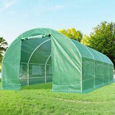 Quictent 20'x10'x7' 2 Doors Portable Greenhouse Large Green Garden Hot House